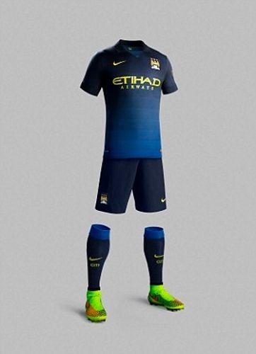 Manchester City reveló su nueva camiseta suplente  b8e58f8912279