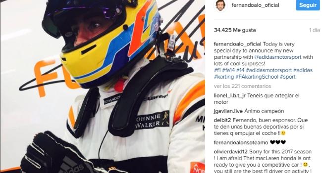 Fernando Alonso se suma como embajador de adidas