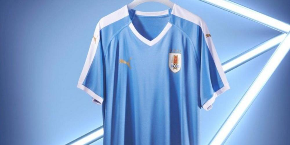 Uruguay presentó su nueva camiseta para la Copa América en homenaje ... e7b595c28ad