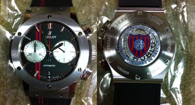 9900578635fe Hublot ya tiene el reloj exclusivo para San Lorenzo