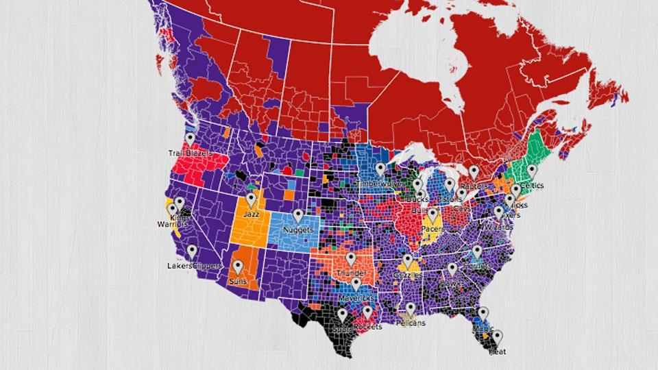 Twitter lanza mapa interactivo de la NBA