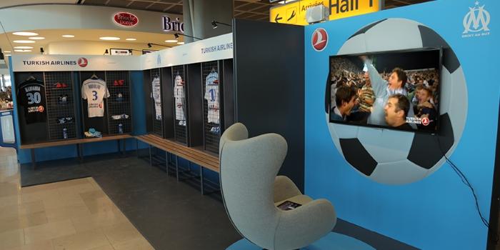 El aeropuerto de Marsella se convierte en el vestuario del Olympique gracias a Turkish Airlines