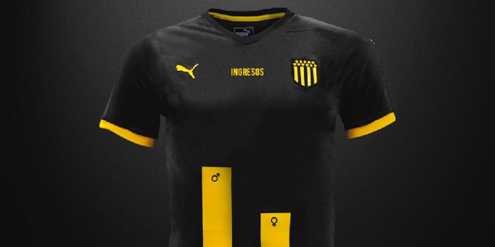 rendimiento superior Venta de descuento 2019 claro y distintivo Peñarol presentó una camiseta con franjas desiguales por el ...