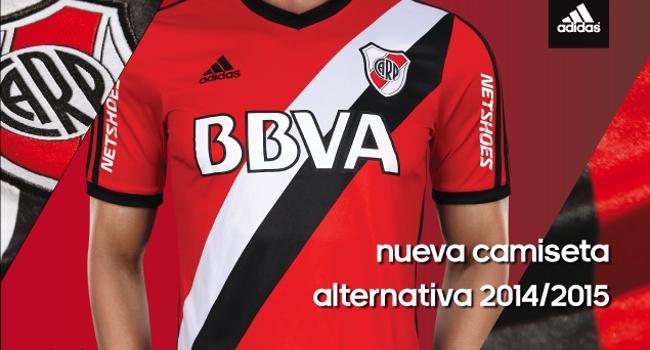 adidas presentó la nueva camiseta suplente de River Plate 2014 2015 ... 013b917c000d1
